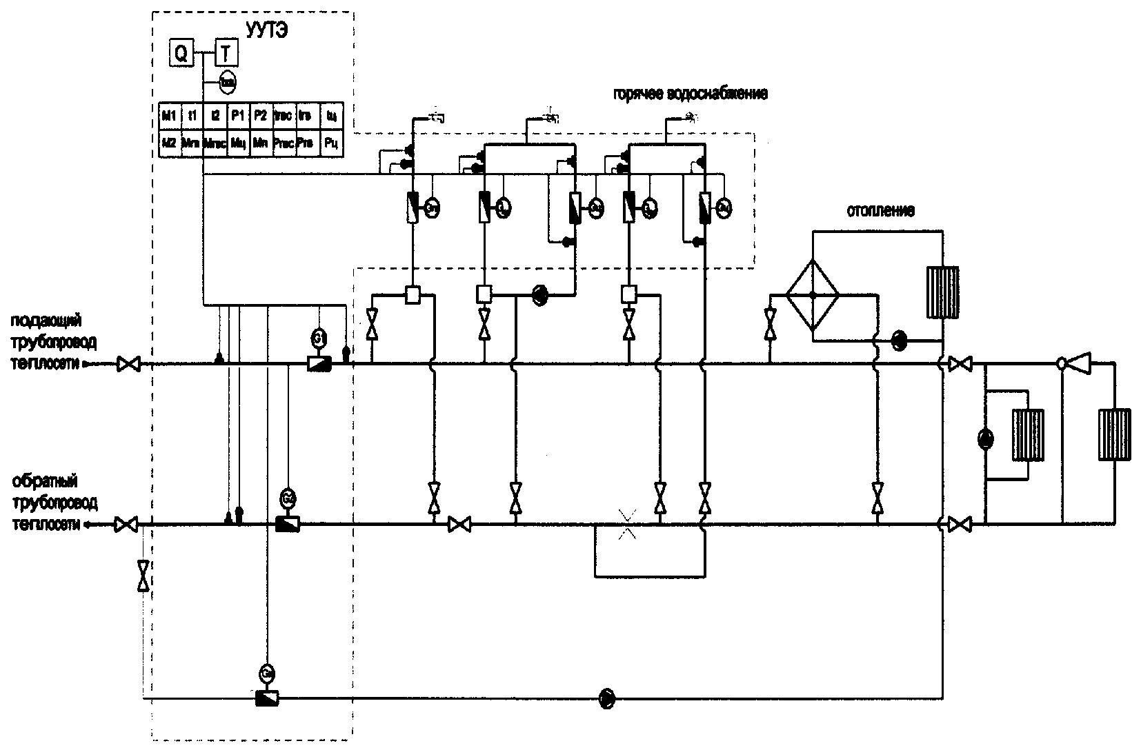 схема подключения теплового регулятора